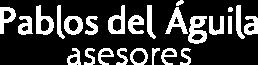 Logo Pablos del Águila Asesores blanco